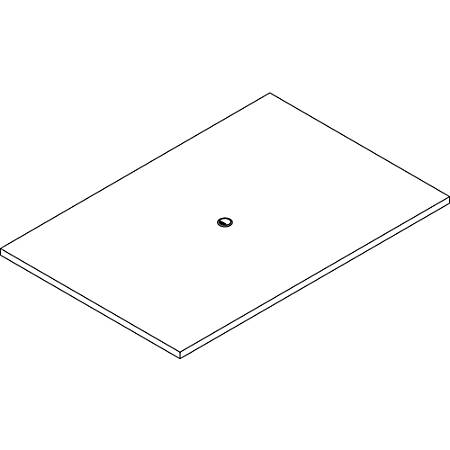 """Lorell Prominence 2.0 Rectangular Conference Tabletop - Espresso Rectangle, Laminated Top - 72"""" Table Top Width x 48"""" Table Top Depth x 1.50"""" Table Top Thickness - Assembly Required"""