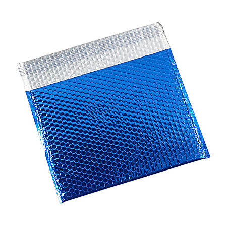 "Partners Brand Blue Glamour Bubble Mailers 13 3/4"" x 11"", Pack of 48"