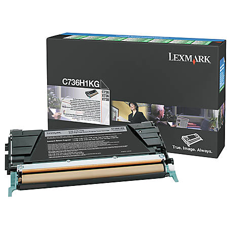 Lexmark™ C736H1KG High-Yield Black Return Toner Cartridge