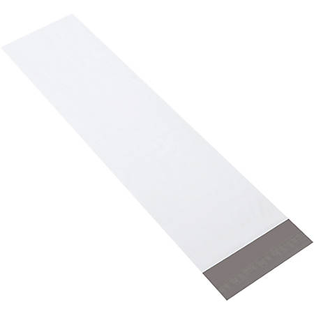 """Partners Brand Long Poly Mailers 8 1/2"""" x 33"""", Pack of 100"""