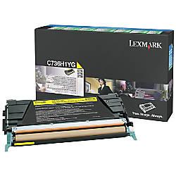 Lexmark C736H1YG High Yield Yellow Return
