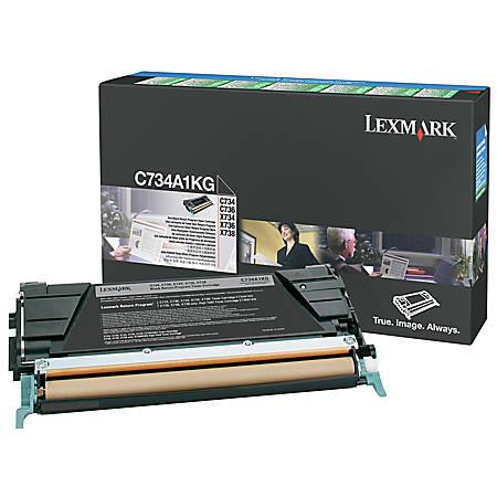 Lexmark™ C734A1KG Black Return Toner Cartridge