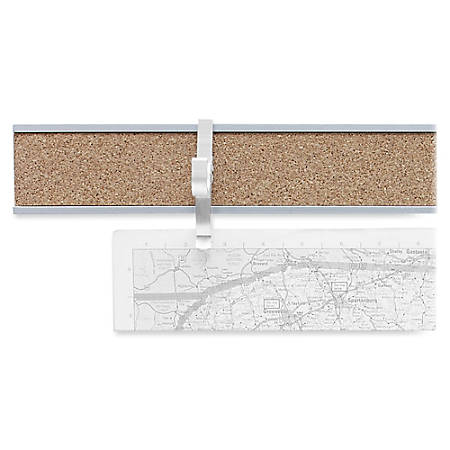 "Advantus Cork Map Rails, 1"" x 96"", Satin"