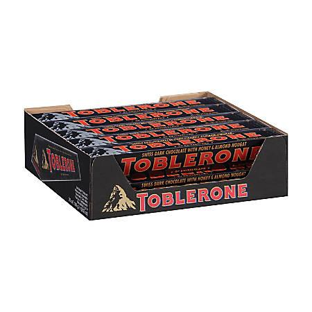 Toblerone Dark Chocolate Bars, 3.5 Oz, Box Of 20 Bars