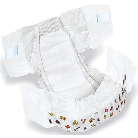 DryTime Disposable Baby Diapers, Size 6, 35+ Lb, White, 15 Diapers Per Bag, Case Of 8 Bags