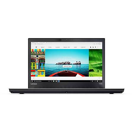 "Lenovo™ ThinkPad T470 Laptop, 14"" Screen, Intel® Core™ i5, 8 GB Memory, 256 GB Solid State Drive, Windows® 7 Pro"