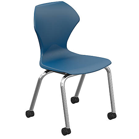 Marco Group Apex Mobile Stack Chairs, Navy/Chrome, Pack Of 2