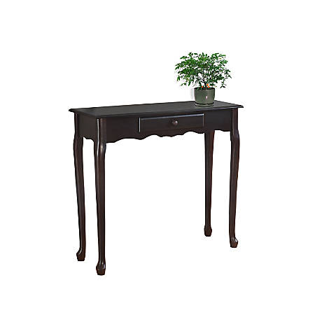 Monarch Specialties Console Table, Scalloped, Single Drawer, Dark Cherry