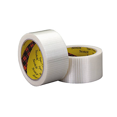 """3M® 8959 Bi-Directional Strapping Tape, 3/4"""" x 55 Yd., Clear, Case Of 6"""