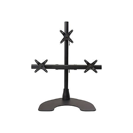Ergotech Triple Lcd Monitor Desk Stand 28 Pole Black