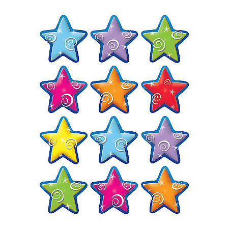 Teacher Created Resources Mini Accents, Stars, Assorted Colors, Pack Of 36