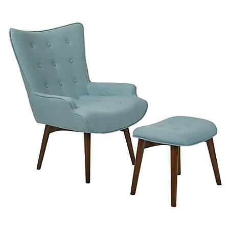 Ave Six Dalton Chair With Ottoman, Milford Capri/Medium Espresso