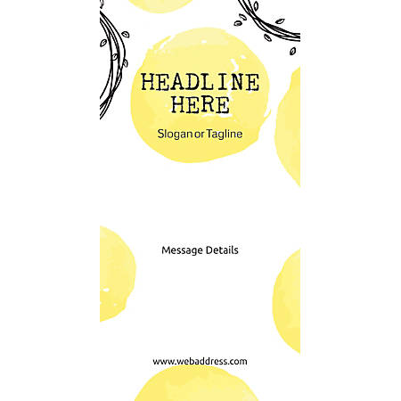 Custom Vertical Display Banner, Abstract Yellow