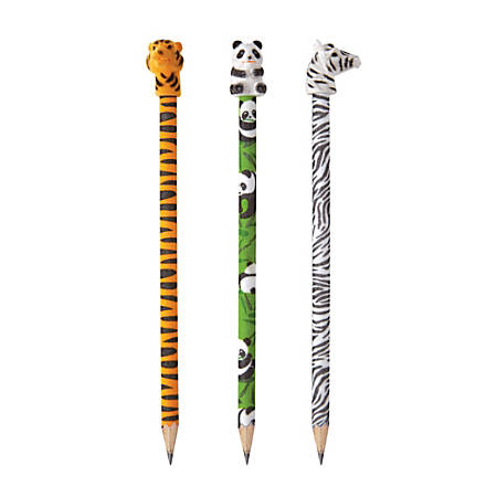 Office Depot® Brand Pencil Topper Eraser, Animal Flock
