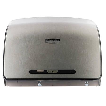 Kimberly Clark® Mod™ JRT Bathroom Tissue Dispenser, Brushed Metallic Silver