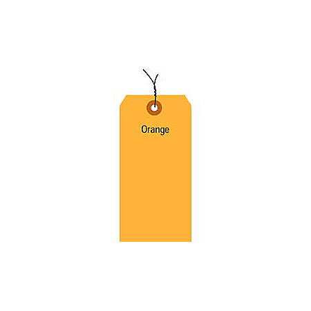 "Office Depot® Brand Fluorescent Prewired Shipping Tags, #8, 6 1/4"" x 3 1/8"", Orange, Box Of 1,000"