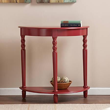 Southern Enterprises Tyra Demilune Table, Round, Red