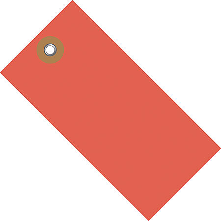 "Tyvek® Shipping Tags, #8, 6 1/4"" x 3 1/8"", Red, Box Of 100"