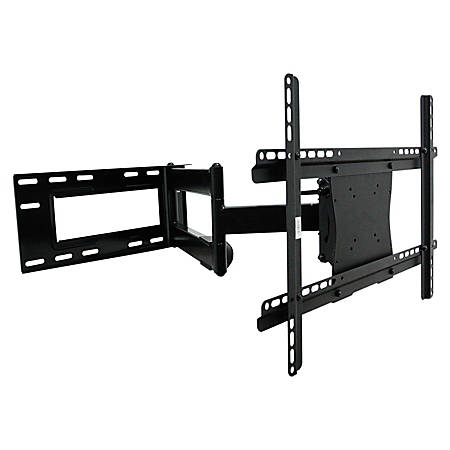 """Lorell Mounting Arm for Flat Panel Display - 37"""" to 61"""" Screen Support - 150 lb Load Capacity - Steel - Black"""