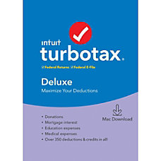 TurboTax 2019 Deluxe Federal EFile For