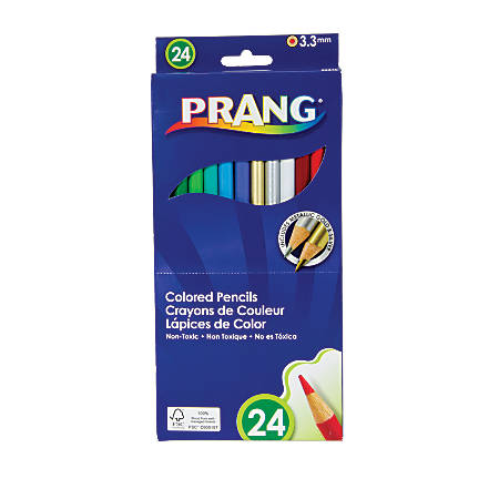 Prang® Color Pencils, 3.3 mm, Pack Of 24