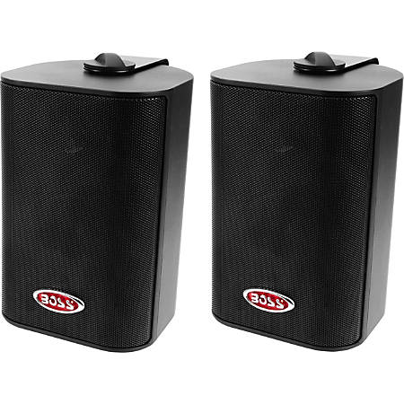 "BOSS AUDIO MR4.3B Marine Enclosed System 4"" 3-way 200-watt Enclosed System Speakers"