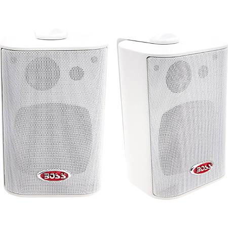 "BOSS AUDIO MR4.3W Marine Enclosed System 4"" 3-way 200-watt Enclosed System Speakers"