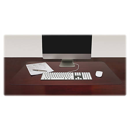 """Lorell® Desk Pad, 36"""" x 20"""", Rectangle, Clear"""