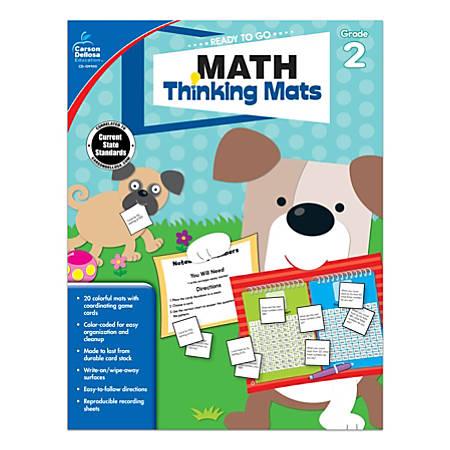 Carson-Dellosa™ Ready To Go Math Thinking Mats Workbook, Grade 2