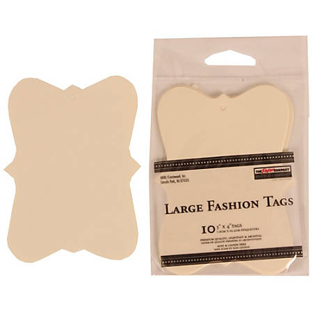 """JAM Paper® Gift Tags, 3"""" x 4"""", Ivory Fashion, Pack Of 10"""