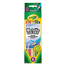 Crayola Metallic Color Pencils Assorted Colors