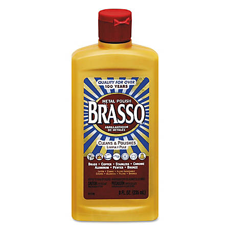 BRASSO® Metal Surface Polish, 8 Oz, Pack Of 8 Bottles