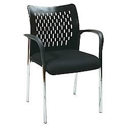 Lorell Proline Guest Chair BlackChrome Set