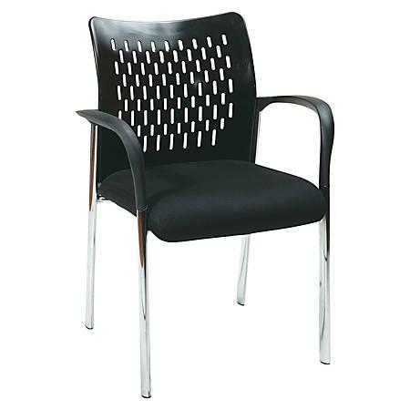 Lorell® Proline Guest Chair, Black/Chrome, Set Of 2