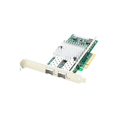 AddOn HP 593717-B21 Comparable 10Gbs Dual Open SFP+ Port Network Interface Card with PXE boot