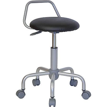 Flash Furniture Ergonomic Stool, Black/Silver