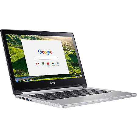 "Acer CB5-312T-K0YQ 13.3"" Touchscreen Chromebook - 1920 x 1080 - M8173C - 4 GB RAM - 64 GB Flash Memory - Chrome OS - Imagination Technologies PowerVR GX6250 - In-plane Switching (IPS) Technology - Bluetooth - 12 Hour Battery Run Time"