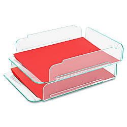 Lorell Stacking Letter Trays 14 34