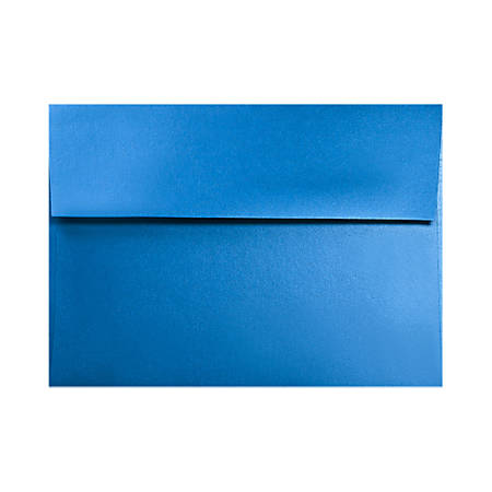 "LUX Invitation Envelopes With Moisture Closure, A7, 5 1/4"" x 7 1/4"", Boutique Blue, Pack Of 50"