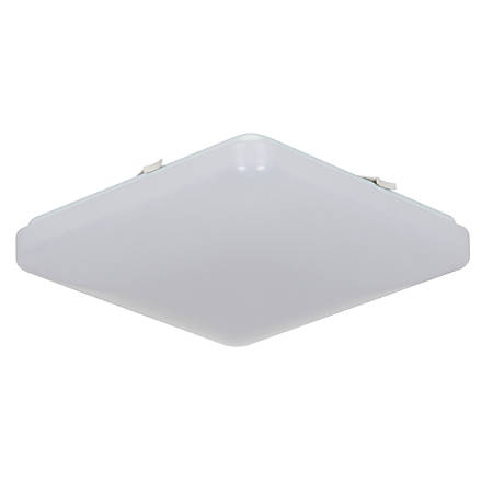 "Luminance LED Square Ceiling Mount Fixture, 12"", 26 Watts, 4000K/Cool White, 2800 Lumen, White Lens"