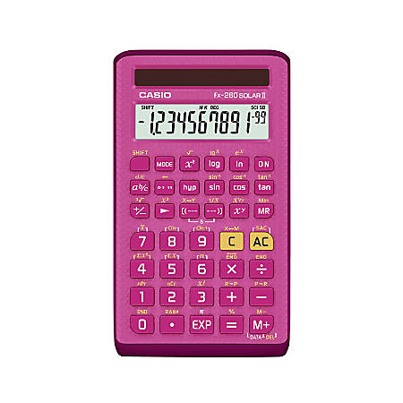 Casio® Handheld Scientific Calculator, Pink, FX260SOLARII-PK