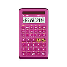 Casio Handheld Scientific Calculator Pink FX260SOLARII