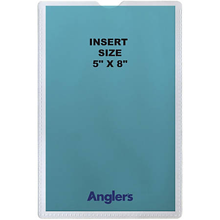 """Anglers Self-stick Crystal Clear Poly Envelopes - File - 5"""" Width x 8"""" Length - Self-sealing - Polypropylene - 50 / Pack - Crystal Clear"""