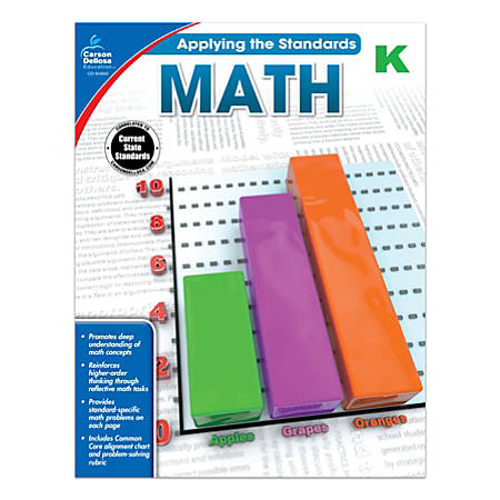 Carson-Dellosa™ Applying The Standards Math Workbooks, Grade K