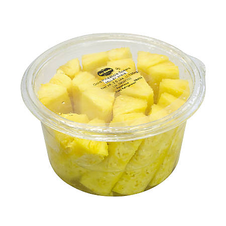 Del Monte Fresh Pineapple Spears, 2.5-Lb Tub