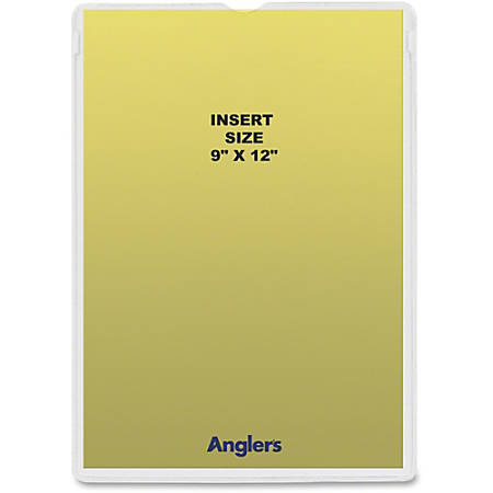 """Anglers Heavy Crystal Clear Poly Envelopes - Document - 9"""" Width x 12"""" Length - Polypropylene - 50 / Pack - Crystal Clear"""