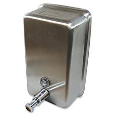 Genuine Joe Stainless Vertical Soap Dispenser