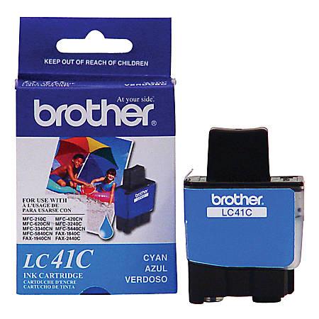 Brother® LC41C Cyan Ink Cartridge