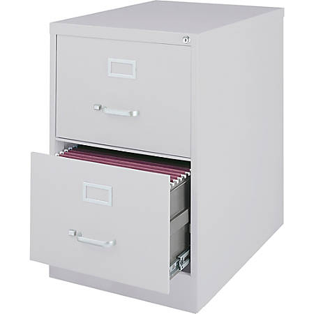 Lorell® Fortress Series 28 1/2''D 2-Drawer Legal-Size Steel Vertical File Cabinet, Light Gray