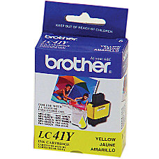 Brother LC41Y Yellow Ink Cartridge